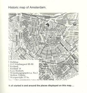 Amsterdam Historic Map Coffeeshops