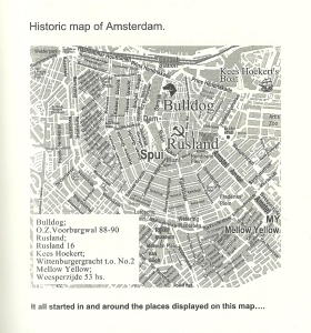 Amsterdam Historic Map Coffeeshops