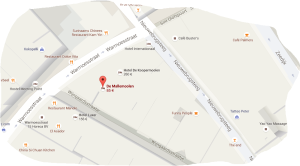 map hotel de mallemoolen, hotel de koopermoolen red light district amsterdam