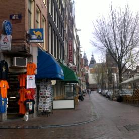 2012 red light district Nieuwmarkt cat