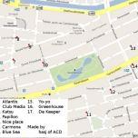 map coffeeshops De Pijp Amsterdam 2015