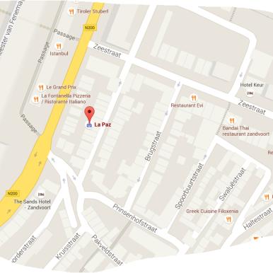 map coffeeshop Hunter's Zandvoort