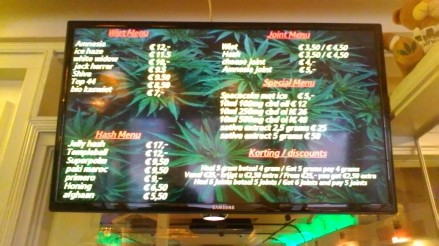 menu willie wortel's sativa coffeeshop( frantz hals )