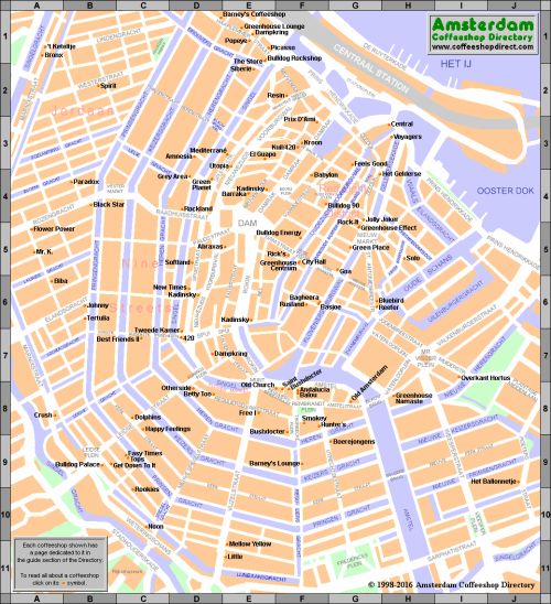 MAP COFFEESHOPS 2016