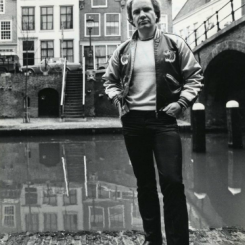 Holly Hasenbos (1947-1984), owner of the coffee shop Sarasani (Old Canal 327 cellar) in Utrecht.