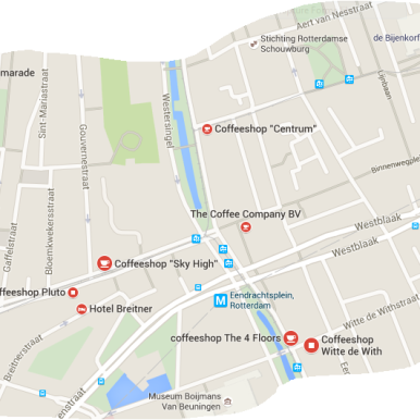 coffeeshops next to hotel bazar rotterdam