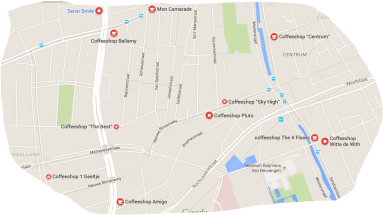 coffeeshops rotterdam map 5