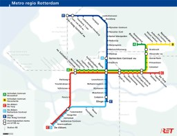 Map Metro Rotterdam