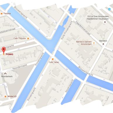 map petit dejeuner breakfast PIQNIQ amsterdam