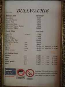 Bullwackie menu coffeeshop may 2015
