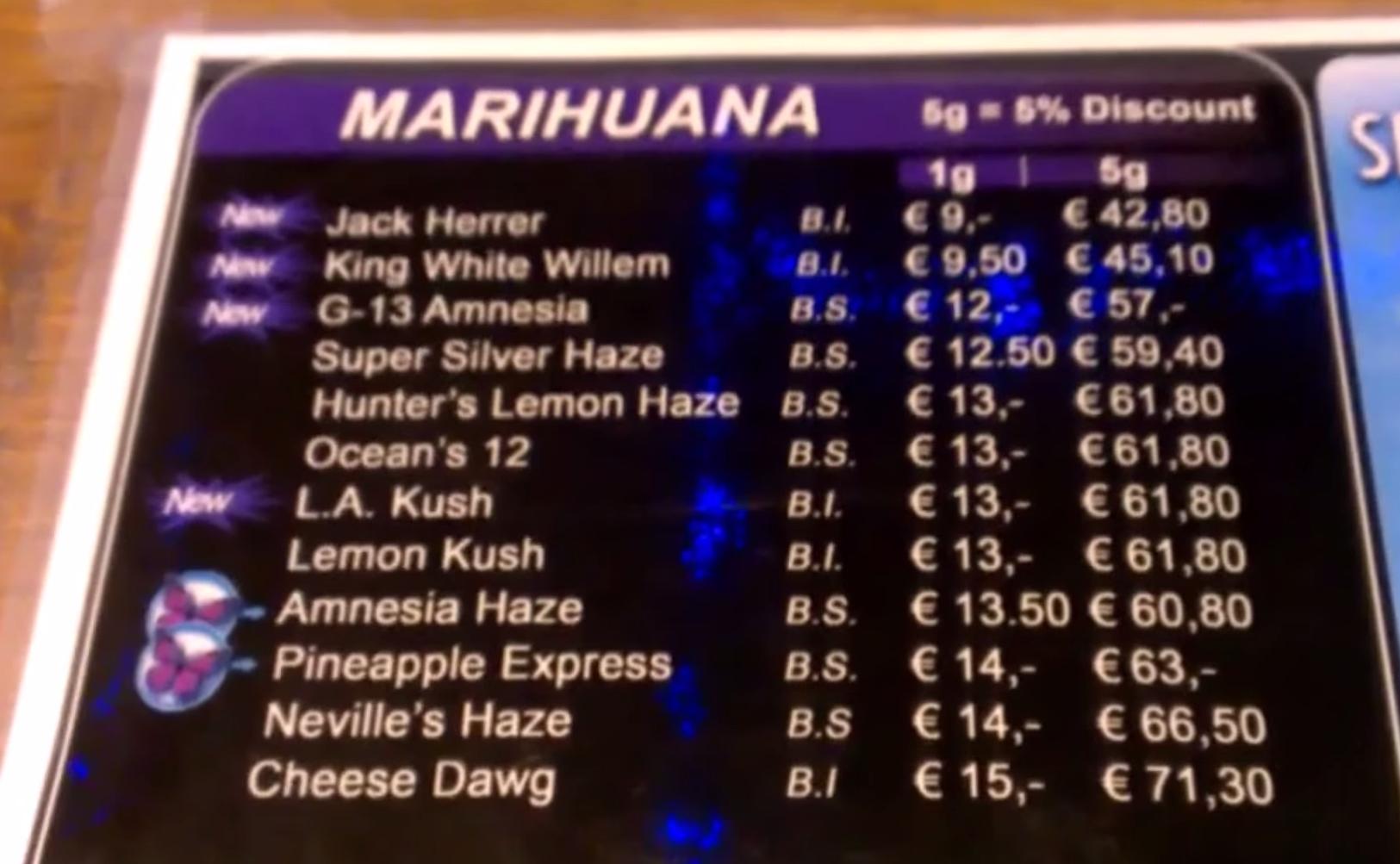 coffeeshop Sevilla Utrechtsestraat 14 menu june 2015 – Budhaze's ...: https://budhaze.wordpress.com/2014/09/26/coffeeshop-menus-amsterdam...