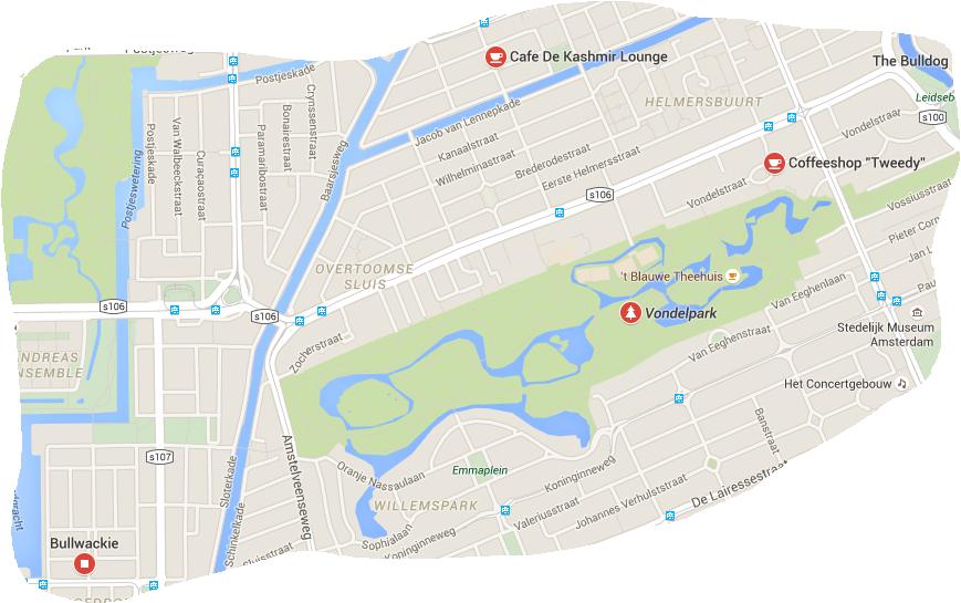 coffeeshops next Vondelpark Budhazes Blog