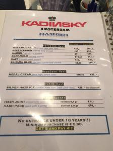 menu coffeeshop Kadinski Hash july2015