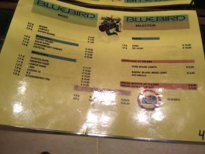MENU WEED COFFEESHOP Bluebird 2015 september