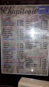 menu coffeeshop chapiteau amsterdam 2015