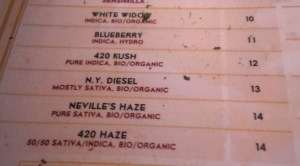 MENU WEED Coffeeshop De Kuil 420 Cafe 2015 may (3)