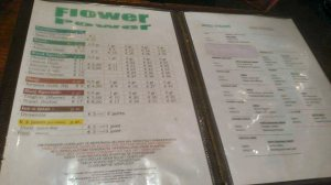 menu coffeeshop Flower Power 2015 october