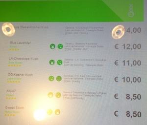 New menu for Boerejongens dated April 19, 2015