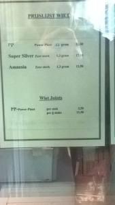 utrecht menu coffeeshop 208 Weed 2016 february