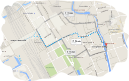 walking from centraal station utrecht to coffeeshop 208