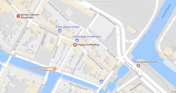 map coffeeshop amsterdam