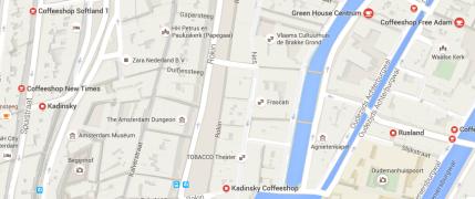 map coffeeshop greenhouse centrum amsterdam