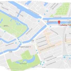 MAP COFFEESHOP TREFPUNT TRAM 14