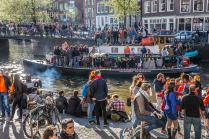 king's day canal amsterdam 2015