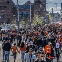 king's day damrak amsterdam 2015