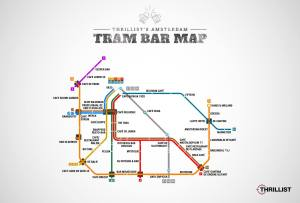 tram coffee brown amsterdam