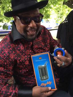 George Clinton enjoying our #MoonRocks