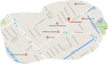 den haag coffeeshops map 2015
