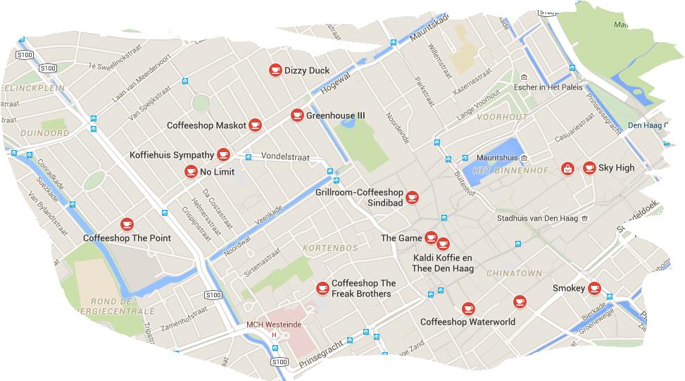 den haag coffeeshops map 2015 budhaze 39 s blog. Black Bedroom Furniture Sets. Home Design Ideas