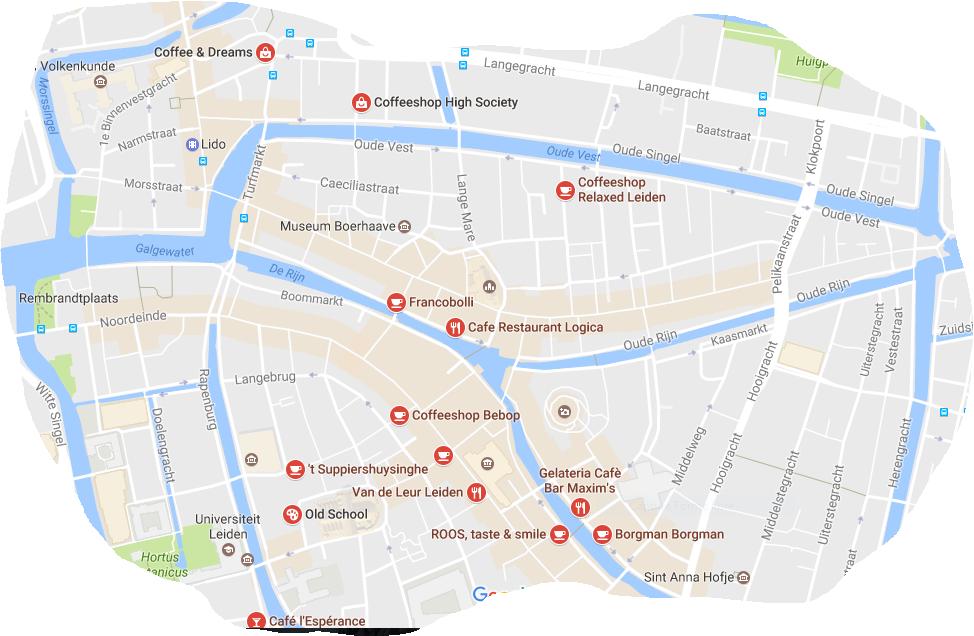 MAP COFFEESHOP LEIDEN Budhazes Blog