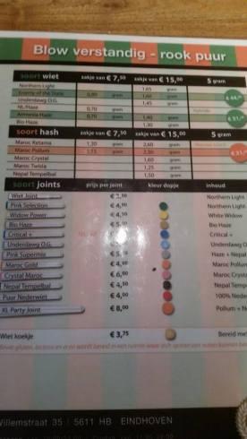 menu coffeeshop Pink 2015 october