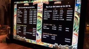menu coffeeshop Abraxas Jonge Roelensteeg 12 - 14 2016 january