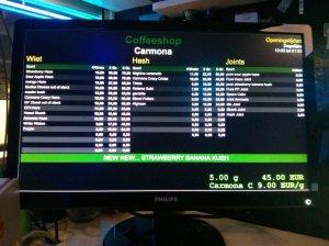 Carmona 2e Jan van der Heijdenstraat 43 menu coffeeshop 2016 march