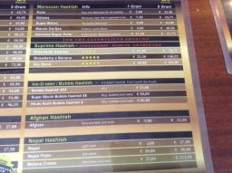 menu coffeeshop de pijp Club Media Has 2016