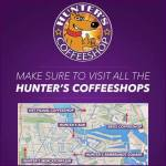 Coffeeshop hunter's 5 locations
