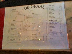 de graarl menu september 2016