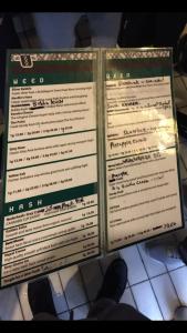 Grey Area menu coffeeshop weed hash 2016 february