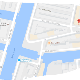 map coffeeshop baba amsterdam