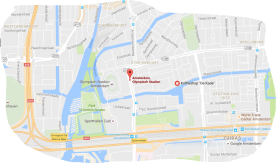 map coffeeshop de kade tram 16