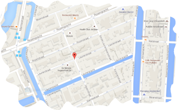 map COFFEESHOP MrK & Co amsterdam 2e Laurierwarsstraat 44