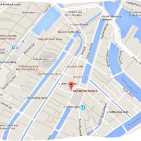 map coffeeshop rock it Nieuwmarkt 12 red light district amsterdam