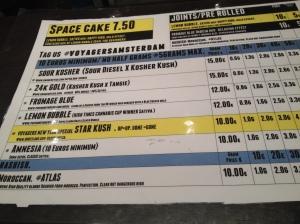 menu coffeeshop Voyagers 2016 january Geldersekade 2