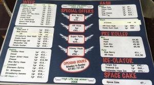 menu coffeeshop Noon 2016 july