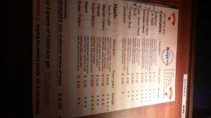 menu coffeeshop Rookies 2016 may