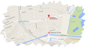 stop molukkenstraat tram 14, 7, bus 359 coffeeshop the stud