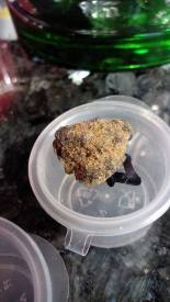 Bagheera Rocks is NY City Diesel buds dipped in Super Lemon Haze hash Rosin Tech and sparkled with OG XXX iceolator.